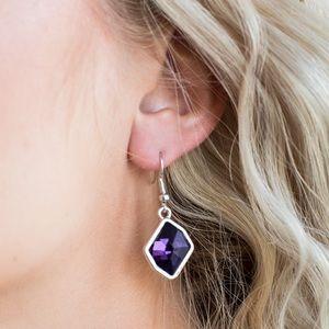 Faceted Purple Rhinestone Earrings NWT